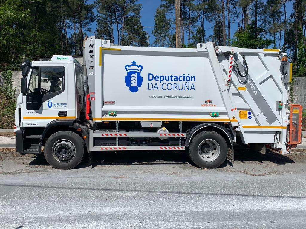 A Mancomunidade de concellos Serra do Barbanza pon en funcionamento un novo vehículo de recollida de lixo