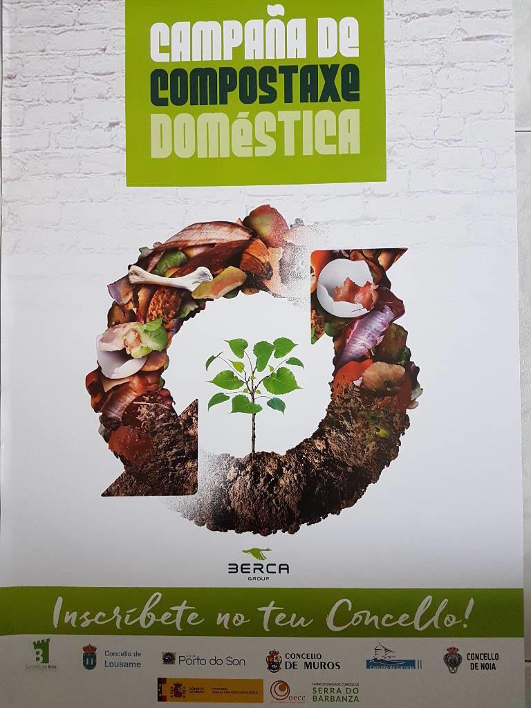 A Mancomunidade Serra do Barbanza dentro do proxecto  Implatación da compostaxe doméstica e comunitaria levará a cabo unhas xornadas divulgativas nos concellos de Noia e Porto do Son