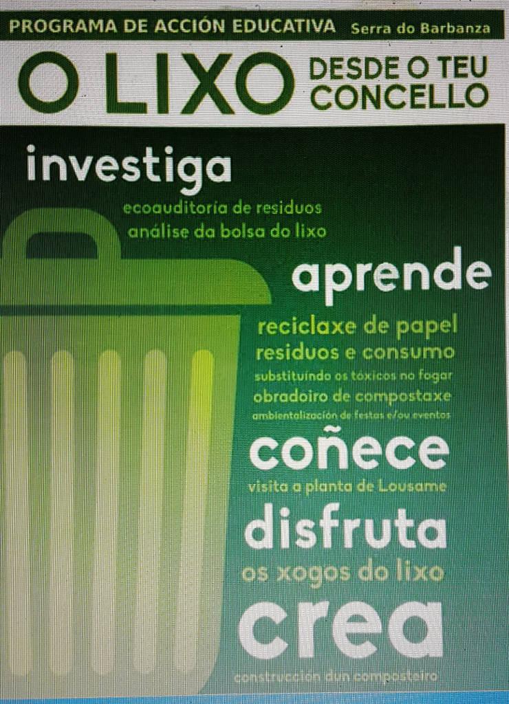 """Programa educativo """"O Lixo dende o teu  concello"""""""
