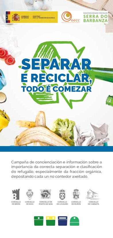 """Continúa a execución do proxecto  """"Mellora da recollida separada de  biorresiduos destinados ás  instalacións de compostaxe do Complexo Ambiental de Barbanza"""""""