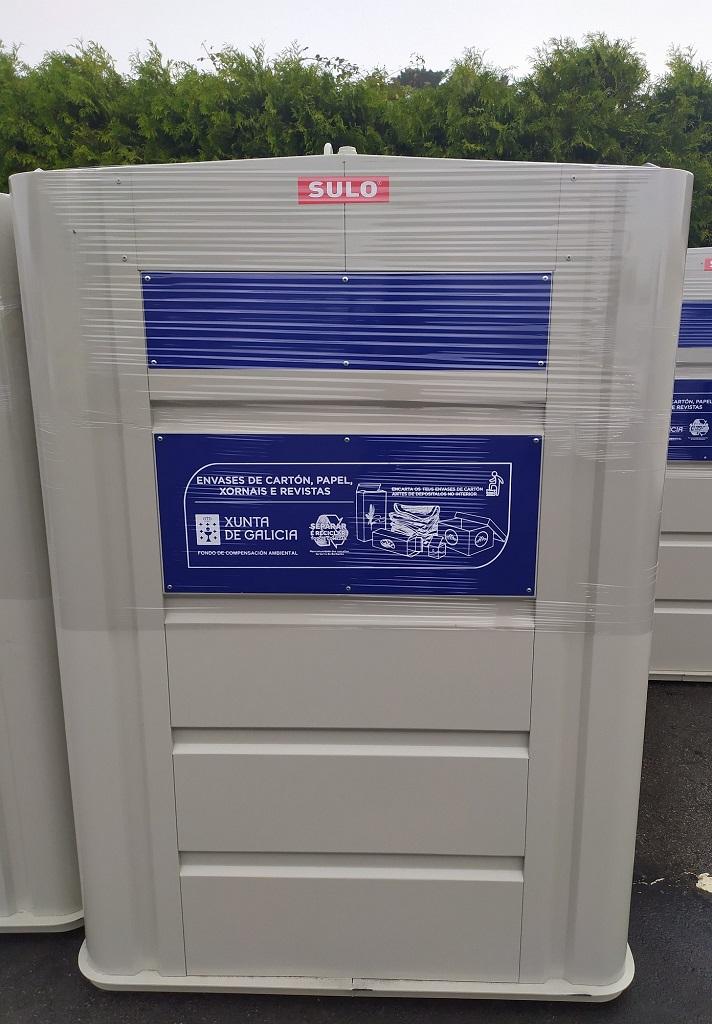 A Mancomunidade adquire 56 contedores de papel/cartón, con cargo ao fondo de compensación ambiental 2020