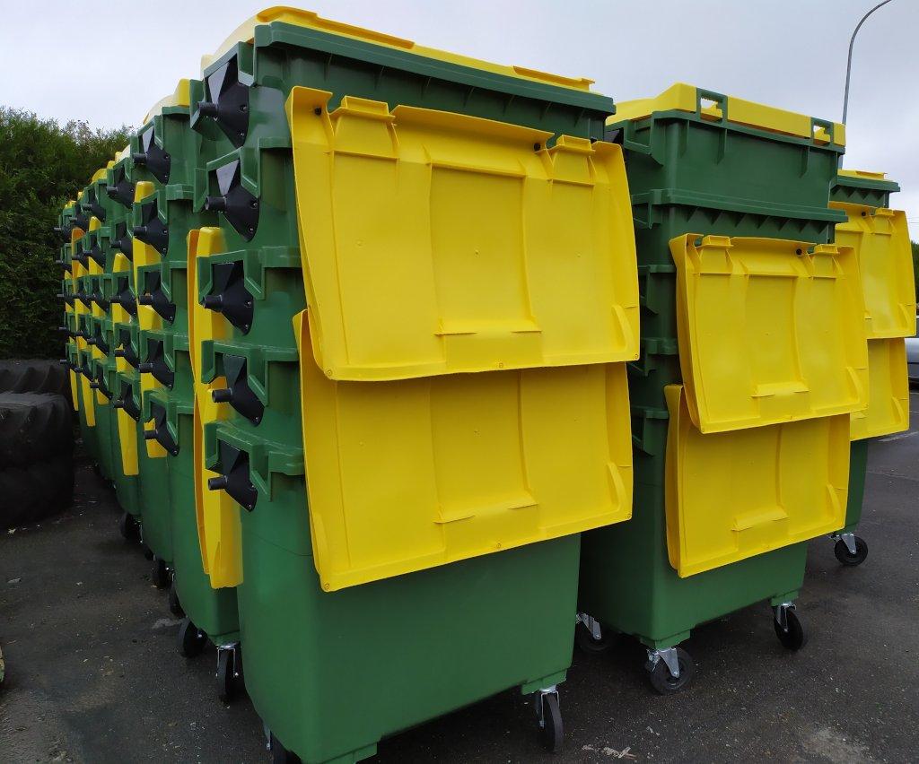 A Mancomunidade adquire 115 contenedores de 800 litros con cargo ao fondo de compensación ambiental 2020